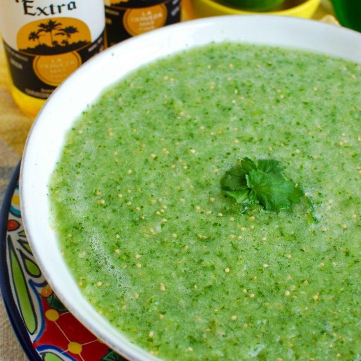 Easy Homemade Salsa Verde Side view