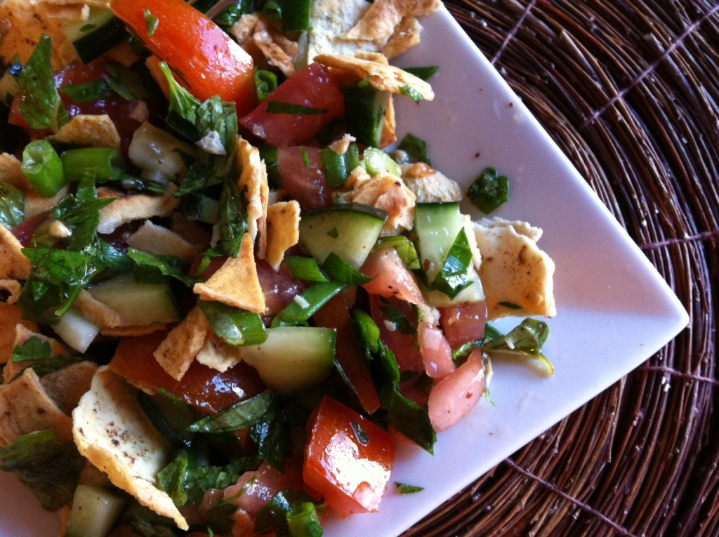 plateful of delicious Pita Bread Salad