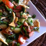 Pita Bread Salad recipe from A Cedar Spoon
