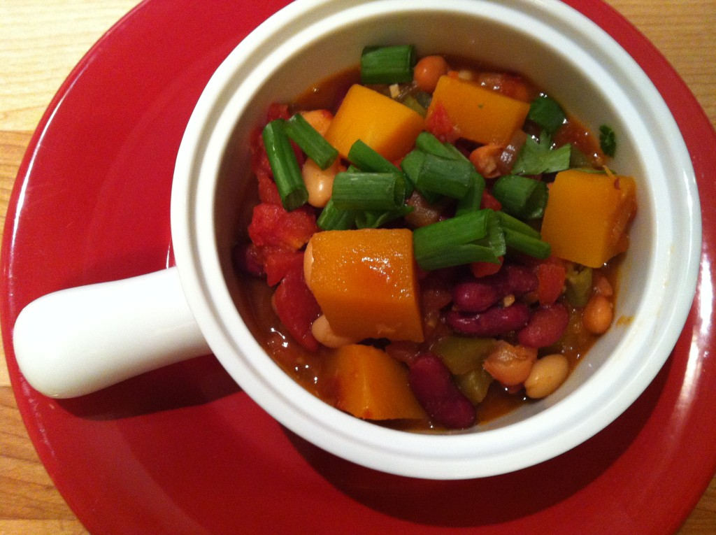 Three Bean Butternut Squash Chili recipe