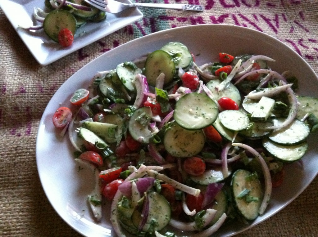 cucumber yogurt salad is one of my favorite light salads the yogurt ...