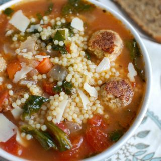 This easy to make Italian Wedding Soup recipe is full of the simple, delicious flavors of healthy greens, vegetables and turkey meatballs in a light broth. If you are looking for comfort food that is lighter and healthier, this is for you!