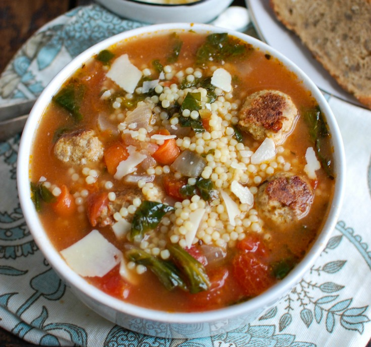 This easy to make Italian Wedding Soup recipe is full of the simple, delicious flavorsof healthy greens, vegetables and turkey meatballs in a light broth. If you are looking forcomfort foodthat is lighter andhealthier, this is for you!