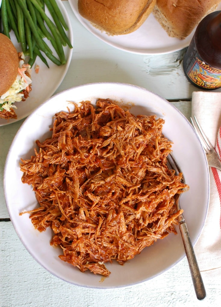 Slow Cooker Barbecue Pulled Pork is so easy to make for dinner. You will love it!