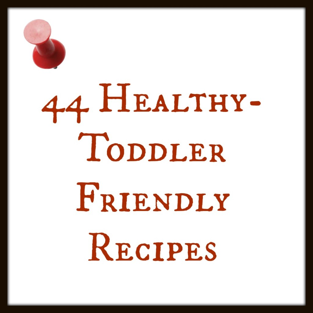 44 Toddler Friendly Healthy Recipes