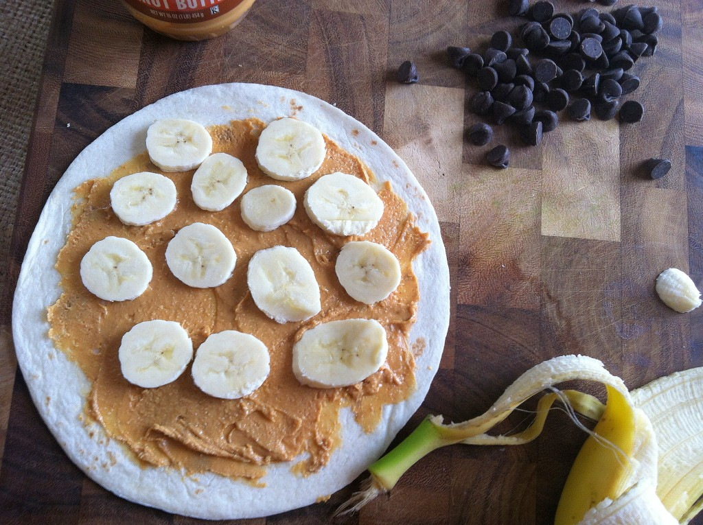 banana on Dulce Quesadilla