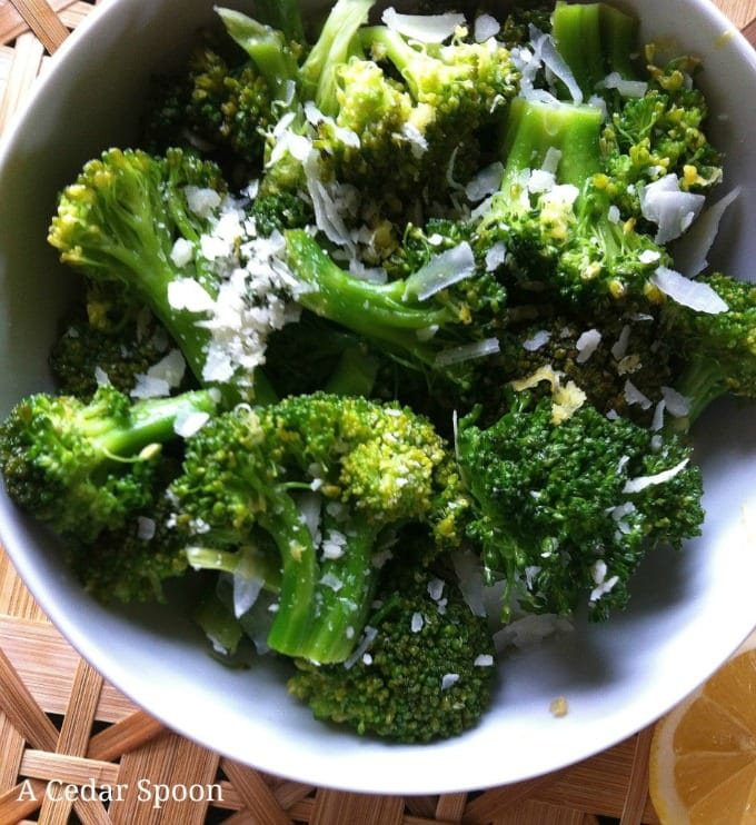 Lemon Parmesan Broccoli - simple and delicious