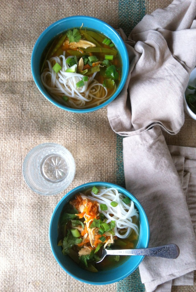 Spicy Asian Chicken And Noodle Soup - so yummy