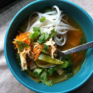 Spicy Asian Chicken and Noodle Soup - Comforting on a cold winter day, this classic soup with Asian flair is easy to prepare comfort food at it's best.