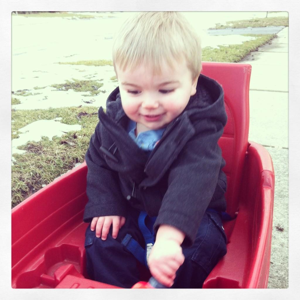 cute kid pic - Baked Zucchini Fries post