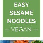 Sesame Noodles Collage