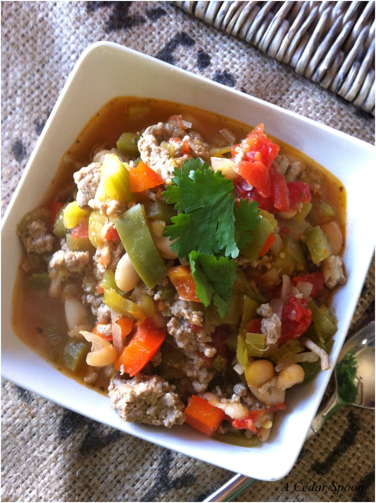 Chili - Cajun Green Chili recipe