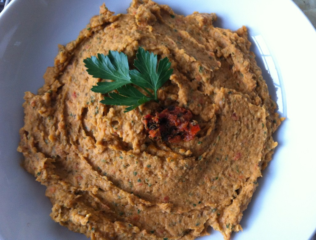 White Bean and Sun Dried Tomato Dip - so yummy