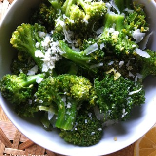 Lemon Parmesan Broccoli from A Cedar Spoon