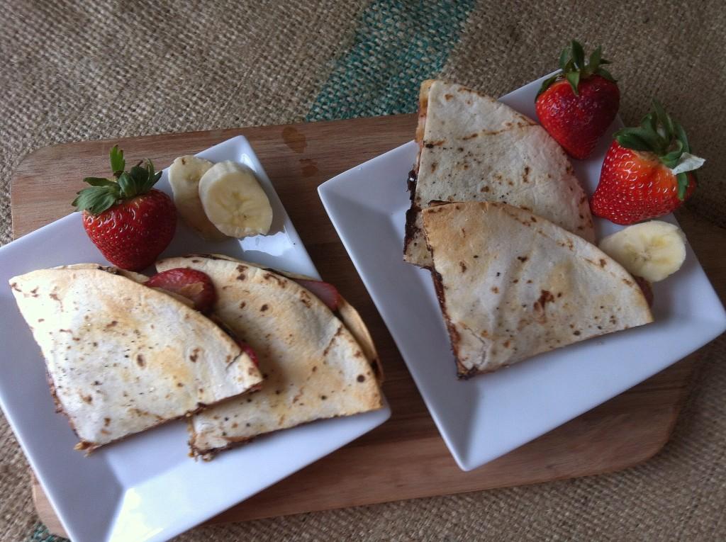 Dulce Quesadilla - a banana split breakfast treat!