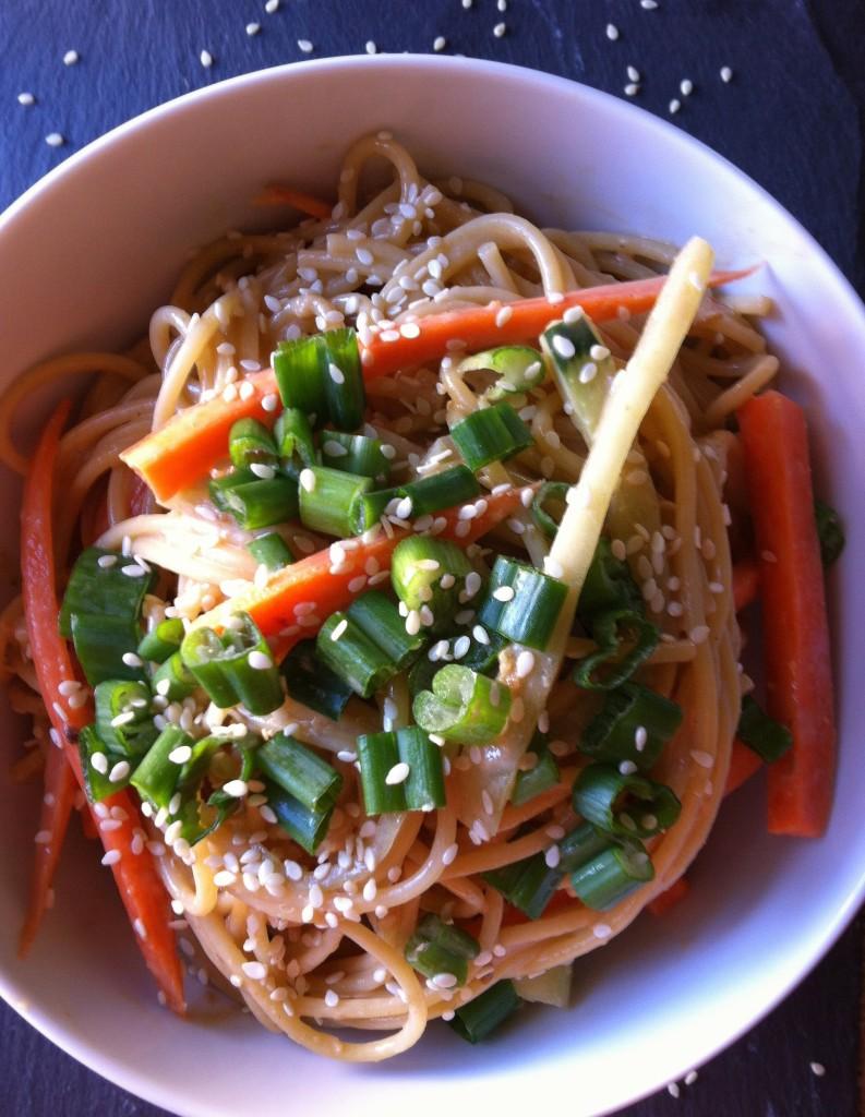 Cold Sesame Noodles salad