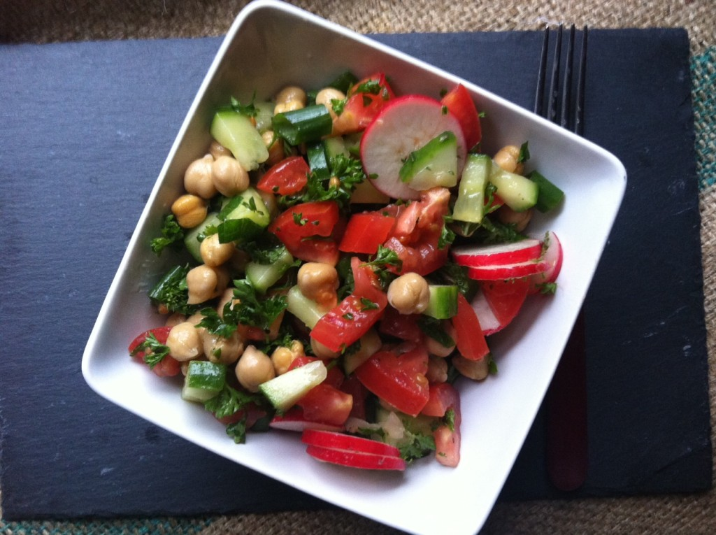 delicious Chopped Middle Eastern Salad