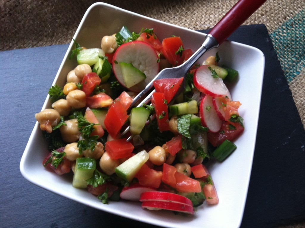 Chopped Middle Eastern Salad - fresh and healthy