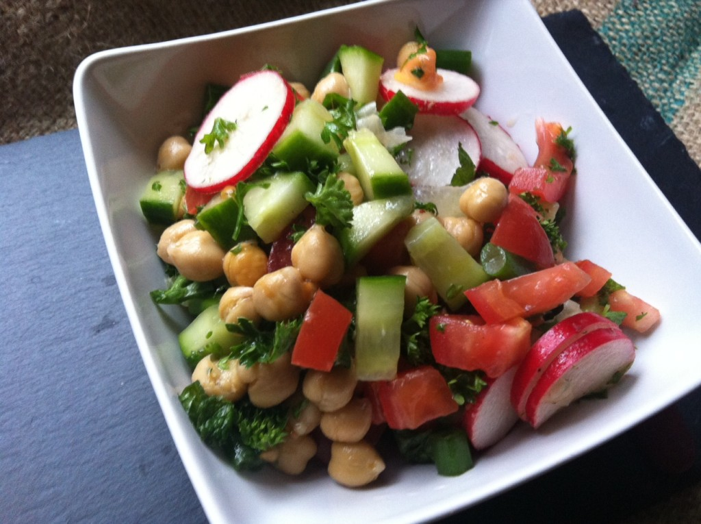 Chopped Middle Eastern Salad from A Cedar Spoon