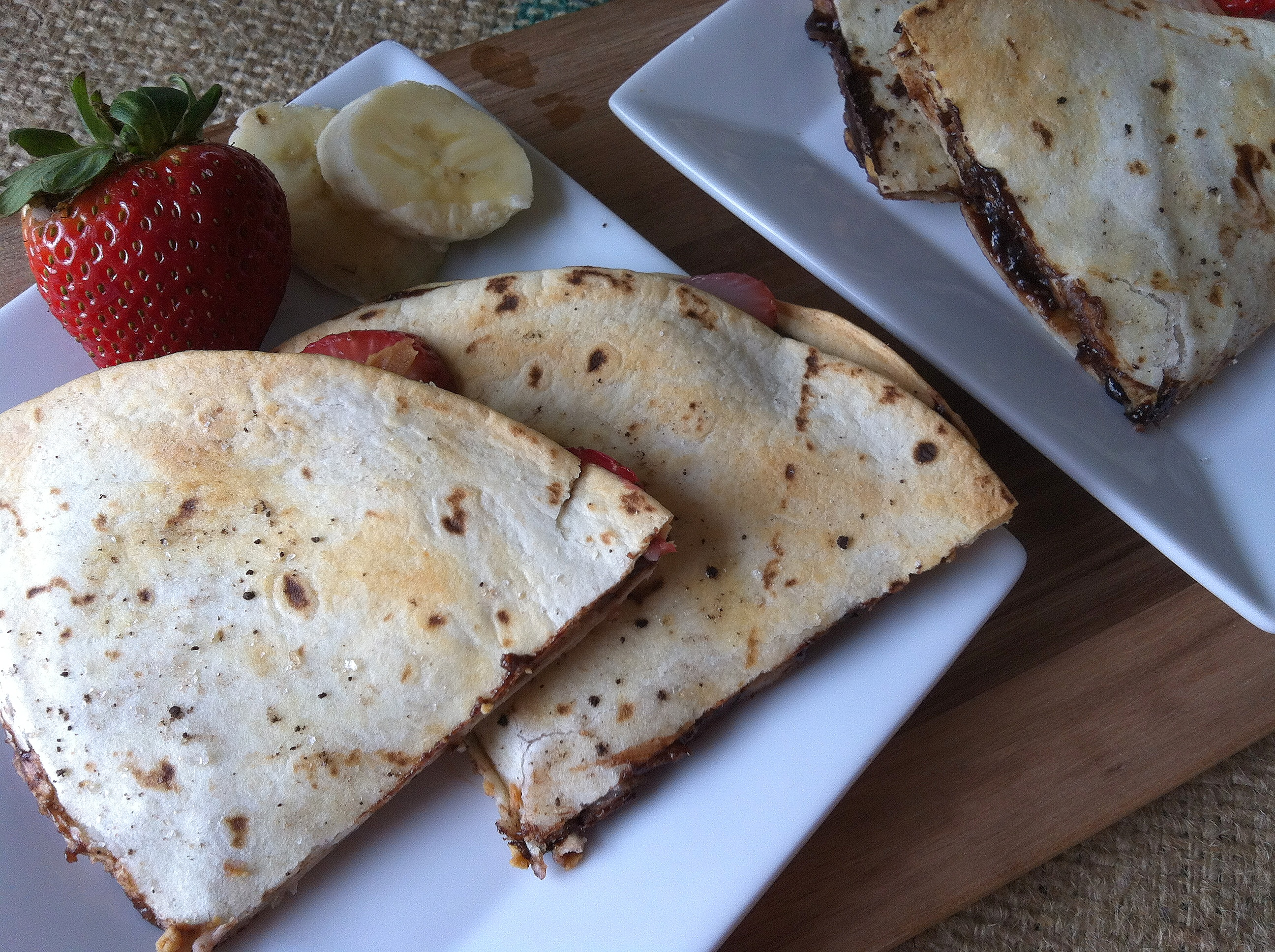 Dessert Quesadilla with fruit