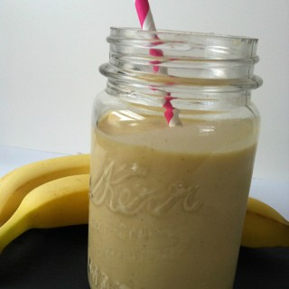 Mango Banana Oatmeal Breakfast Smoothie recipe from A Cedar Spoon