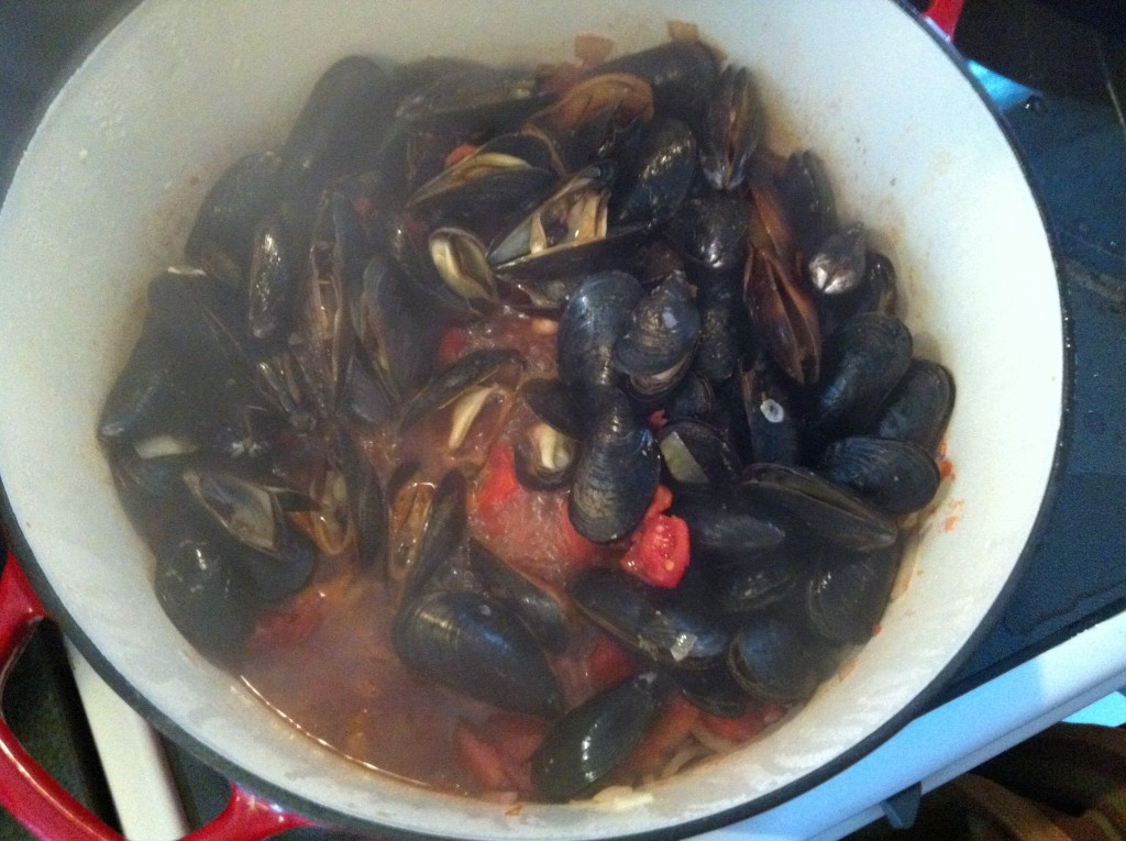 steaming mussels - Mussels With Smoked Spanish Paprika