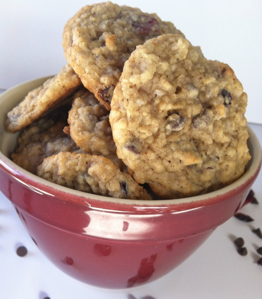 bowl of Loaded Oatmeal Cookies