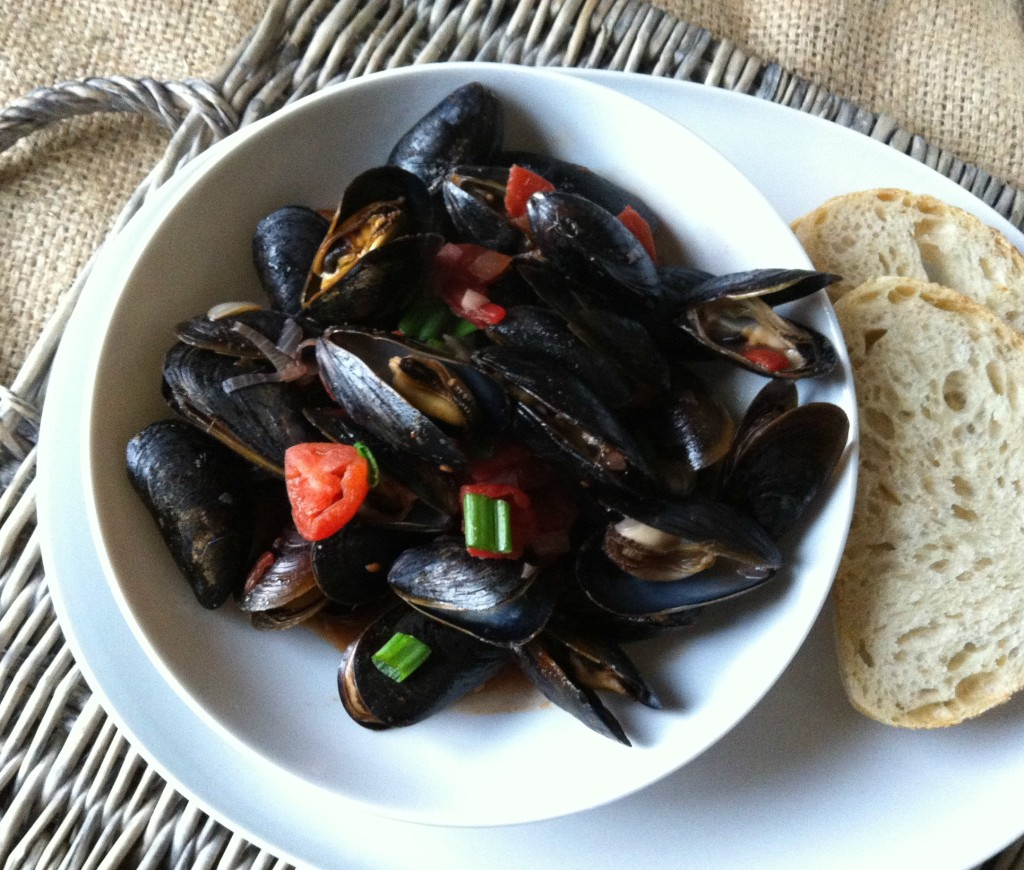 Mussels With Smoked Spanish Paprika recipe
