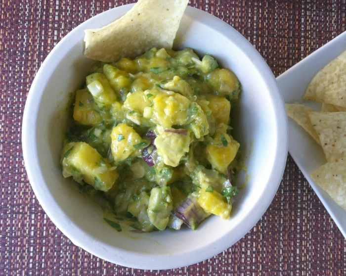 Pineapple Mango Guacamole  from A Cedar Spoon