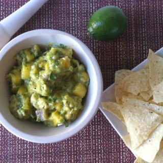 Pineapple Mango Guacamole: a sweet and fruity guacamole that is perfect for dipping chips in or topping a burger or Mexican dish.