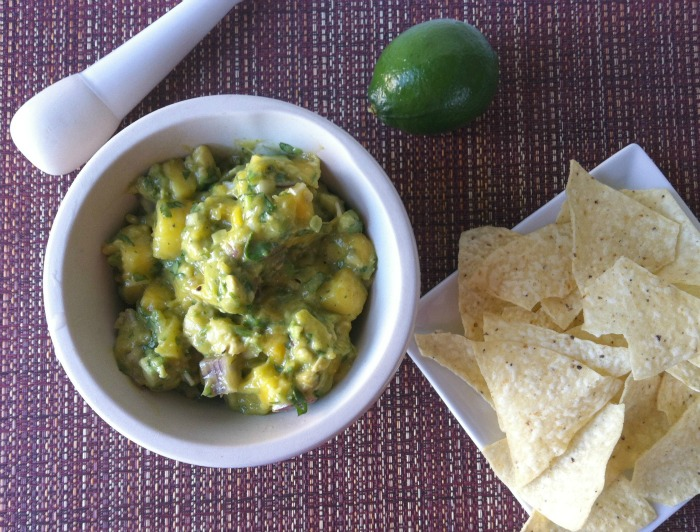 easy Pineapple Mango Guacamole