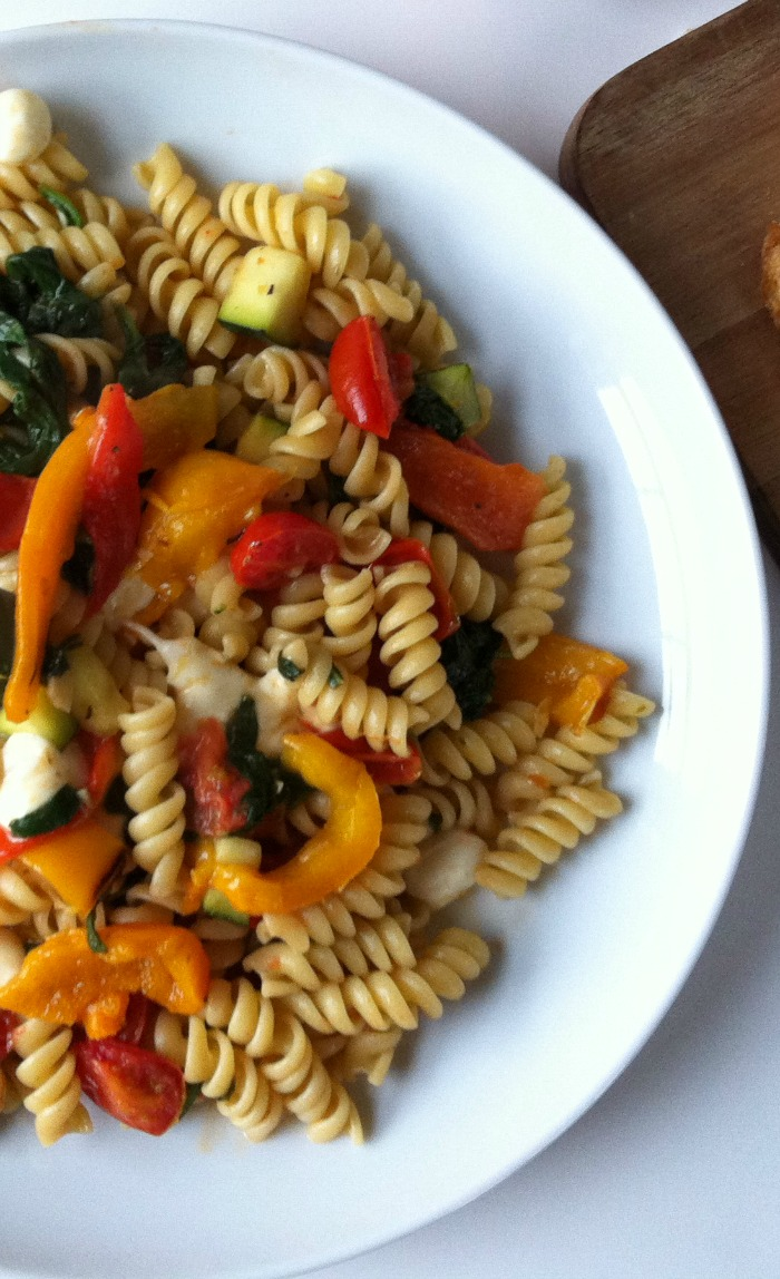 Roasted Red Pepper Pasta from A Cedar Spoon
