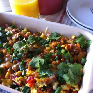 Southwestern Breakfast Bake recipe from a cedar spoon