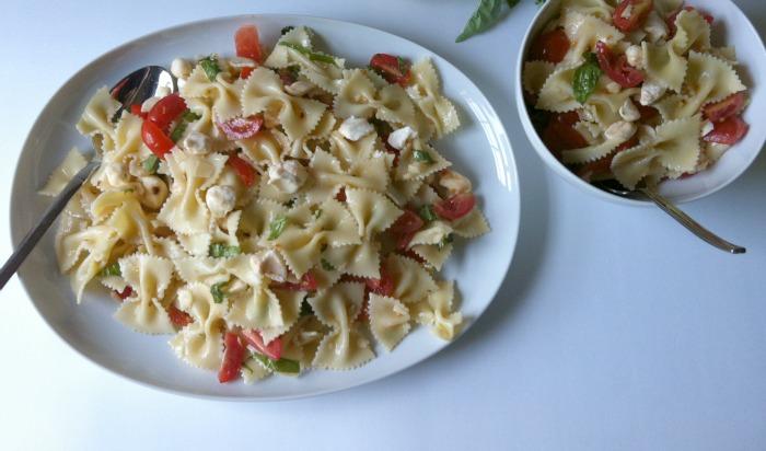 Caprese Pasta Salad plate