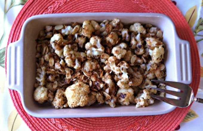 Roasted Cauliflower with Almond Panko Topping recipe