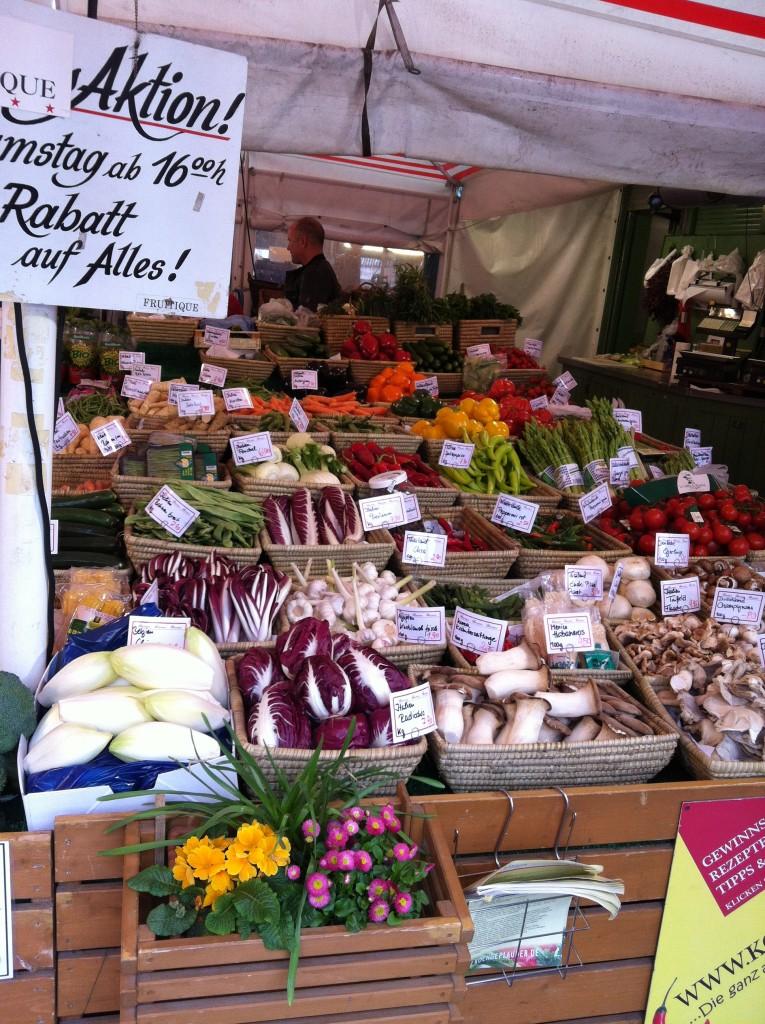 Vegetable market in Munich, Germany