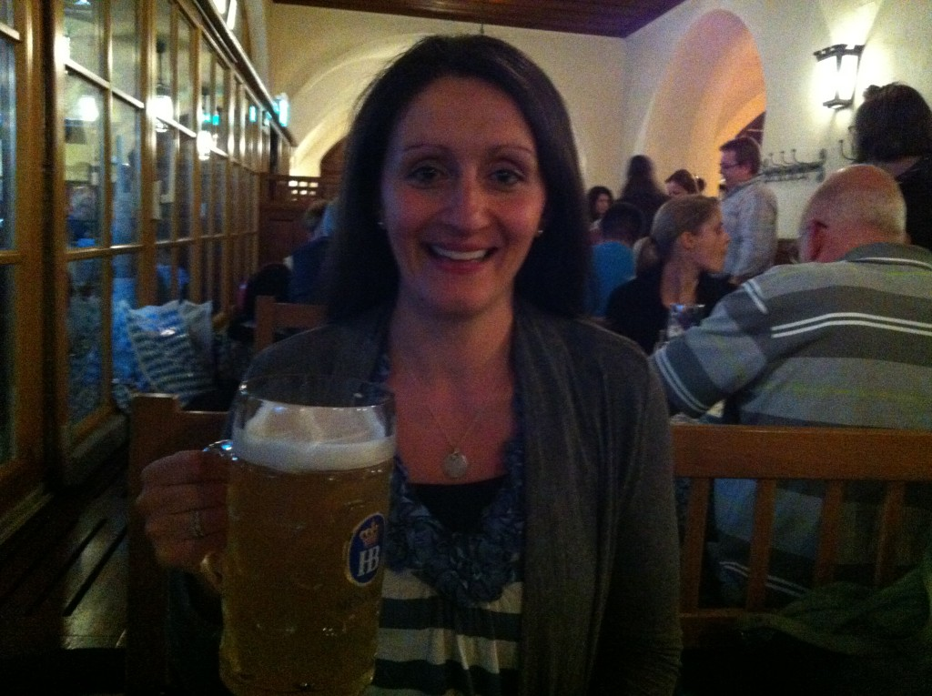 Julia with Beer - Munich, Germany