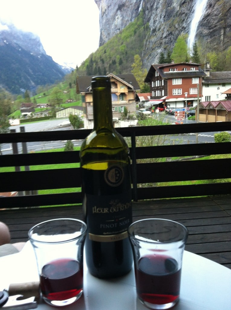 wine and relaxing in Interlaken, Switzerland