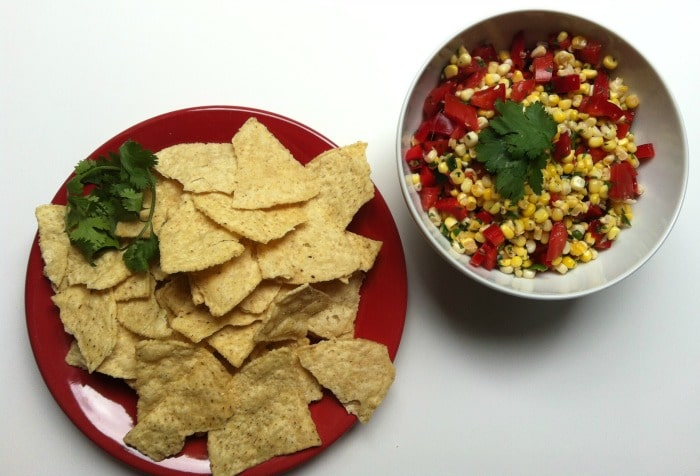 Chips and Salsa - Grilled Corn Salsa post