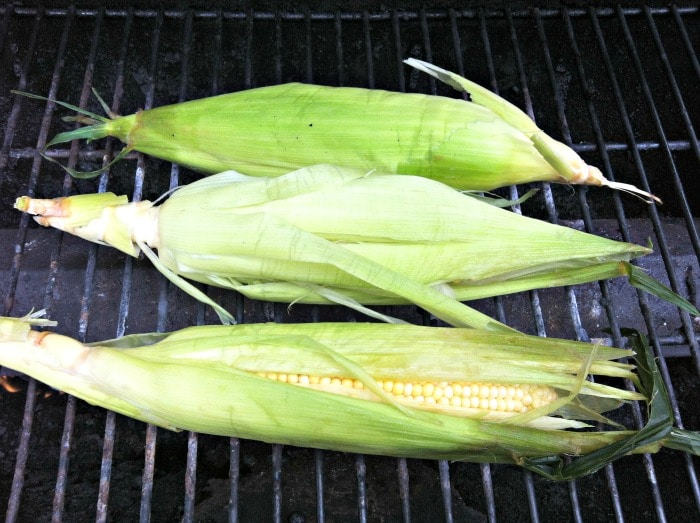 Grilled Corn for Grilled Corn Salsa