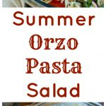 Summer Orzo Pasta Salad in bowl