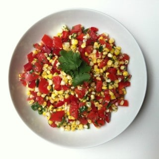 Grilled Corn Salsa from A Cedar Spoon