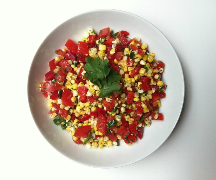 Roasted Grilled Corn Salsa