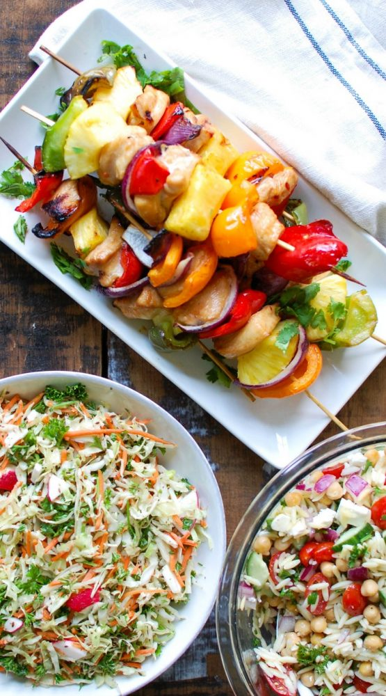 Summer Orzo Pasta Salad with chicken