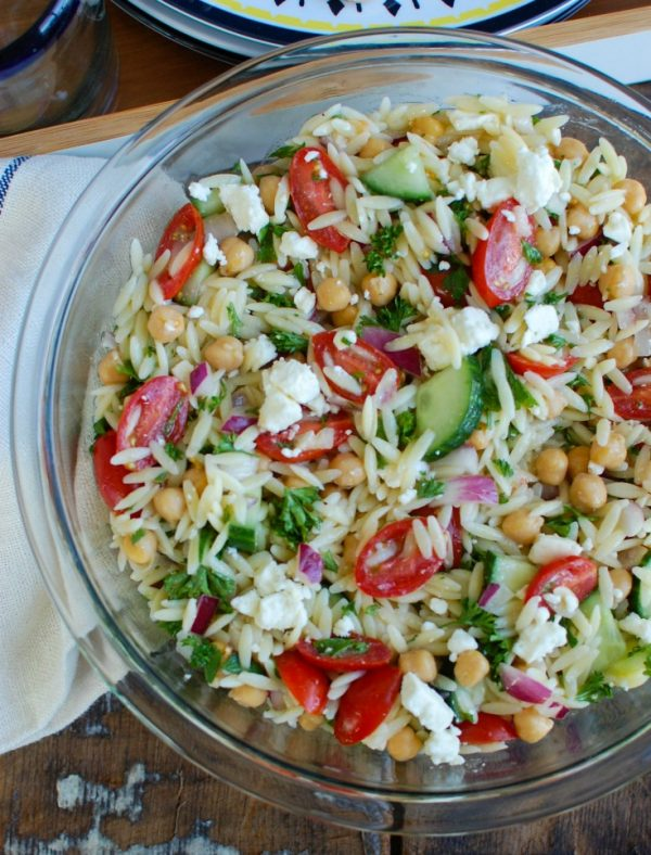 Summer Orzo Pasta Salad is a crowd pleasing side dish perfect for any meal. Add this to your next summer menu!