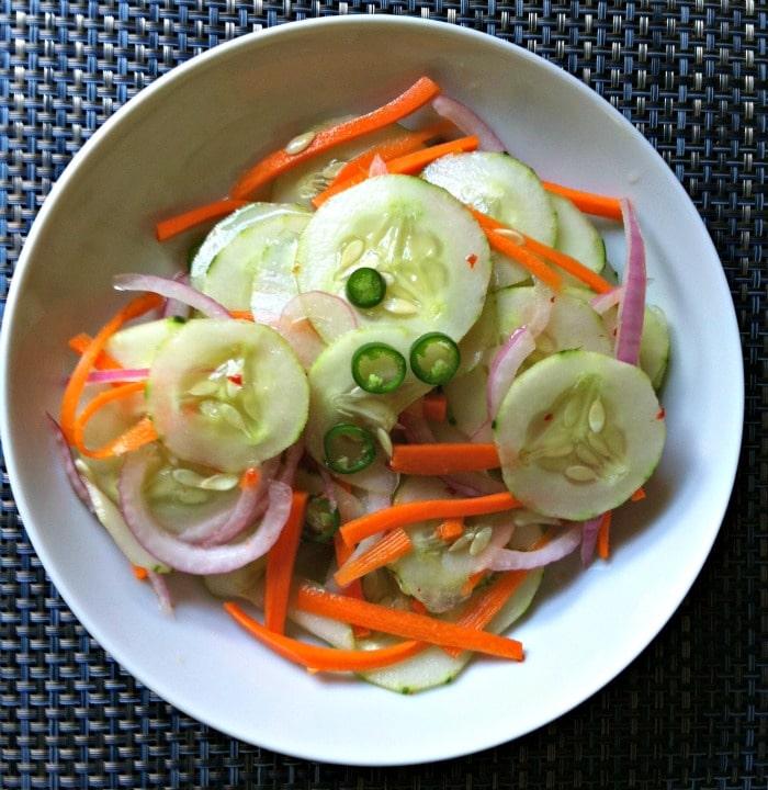 Asian Cucumber Salad bowl