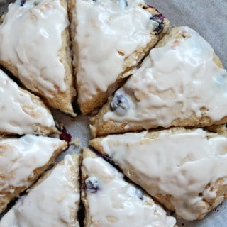 Blueberry-Lemon Yogurt Scones from A Cedar Spoon