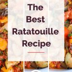 Ratatouille Recipe with collage