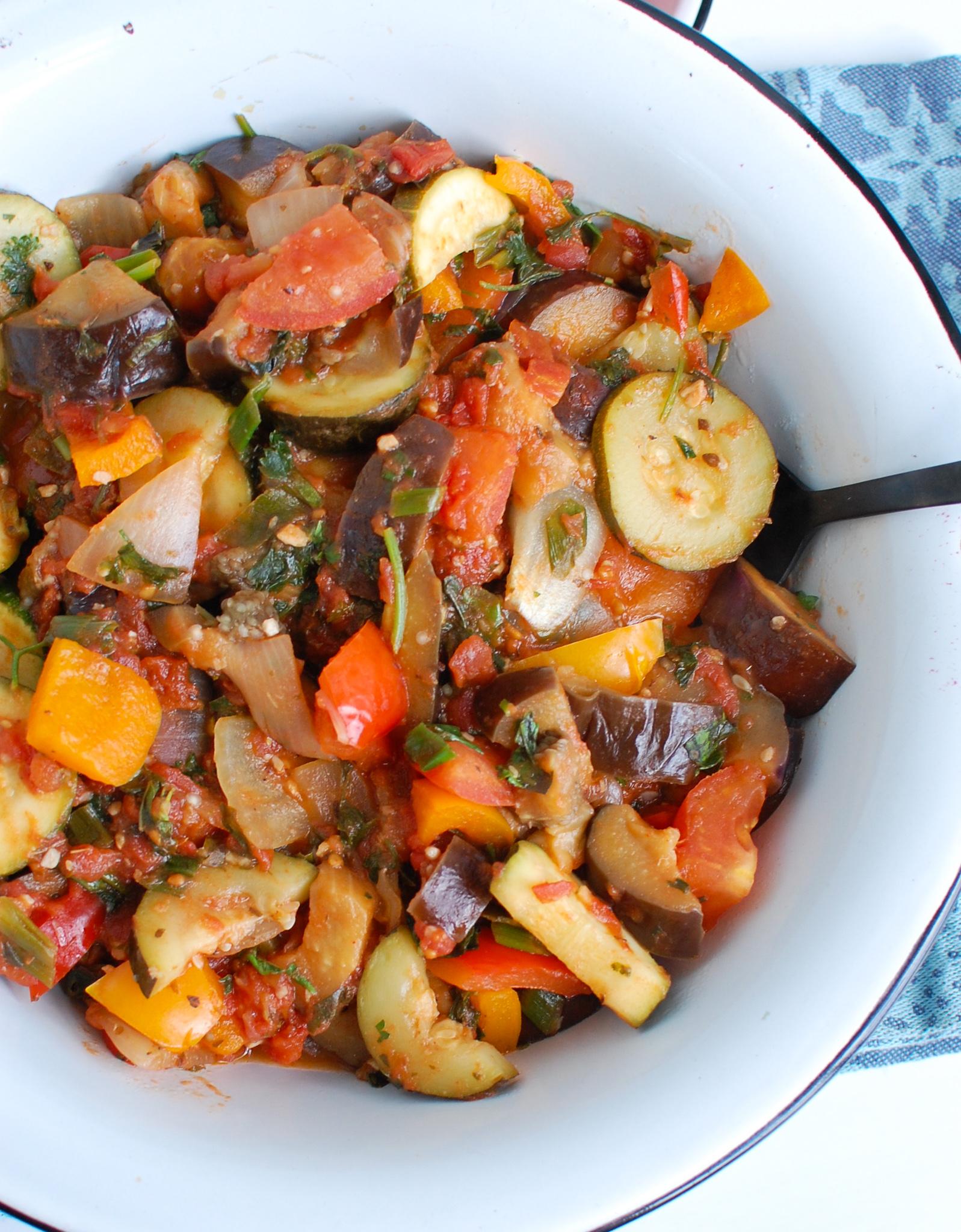 Ratatouille Recipe with vegetables