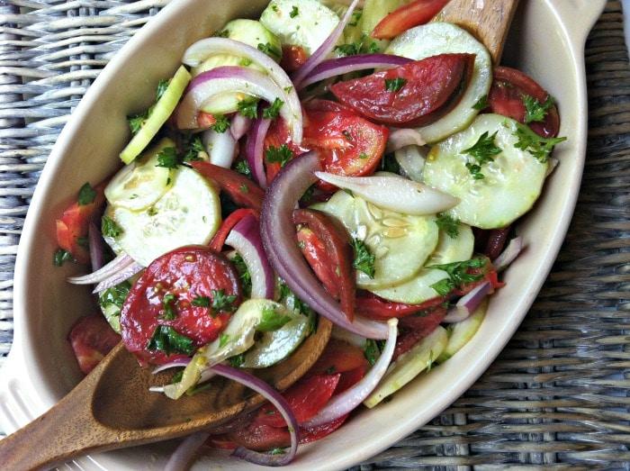 Shirazi Salad {Cucumber, Tomato & Onion Salad} Recipe - A Cedar Spoon